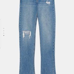 Zara Jeans - Zara premium real straight jeans in sunrise size 8